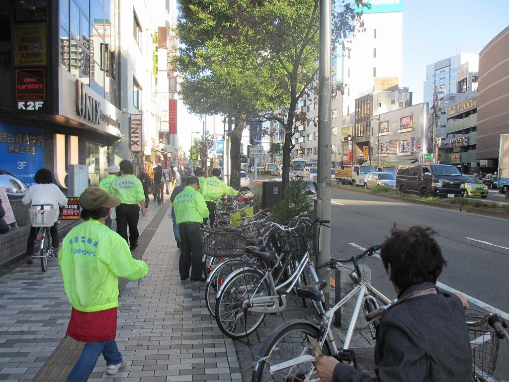 自転車の 放置自転車 警察 : 立川駅周辺にて(JPG:307KB)